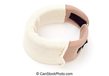orthopedic collar - object on white - medical tool...