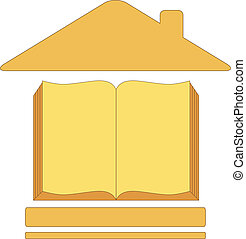 icon with house book