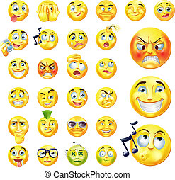 Emoticons - A set of very original emoticon or emoji icons...