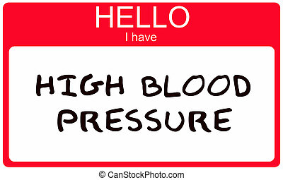 Hello I have High Blood Pressure written on a red sticker...