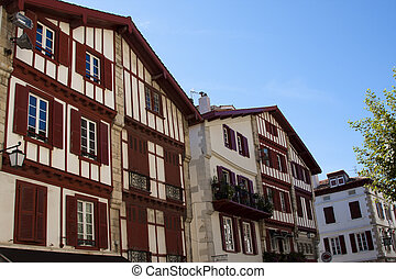 city and details of Saint Jean de Luz, southern France
