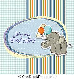 baby boy birthday card