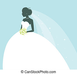 Beauty bride - Vector illustration of Beauty bride