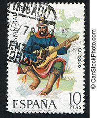 Gaucho Martin Fierro - SPAIN - CIRCA 1974: stamp printed by...