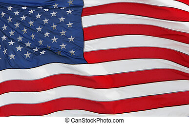 United states flag - The american flag fluttering in a...