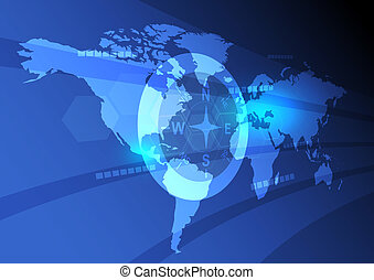 digital world map background