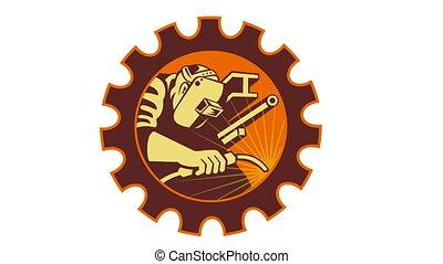 Welder Welding Worker Cog Gear