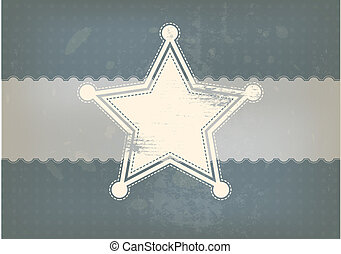 star symbol with vintage background