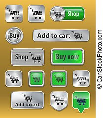 Set of electronic commerce web buttons