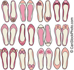 Ballerina Shoes Collection - A set of nine different models...