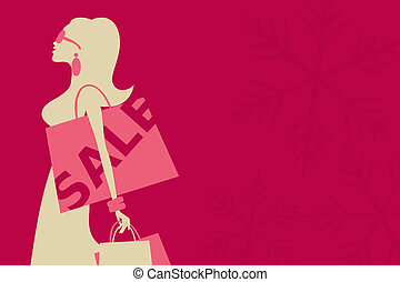 Christmas Sale Girl