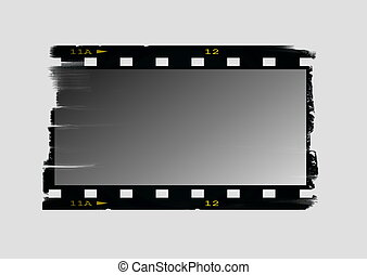 Old blank film strip