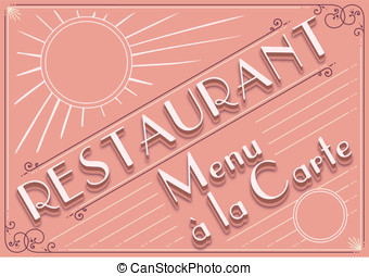 vintage graphic element for restaurant menu