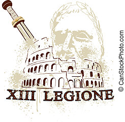 the colosseum of rome - The Colosseum in Rome, the gladius...