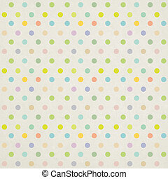 Seamless polka circle dots casual pattern on paper texture...