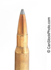 Gold bullet - top half of a rifle bullet, big caliber 30-06,...