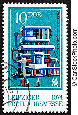 Postage stamp GDR 1974 Power Testing Station - GDR - CIRCA...