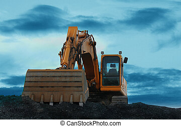 Heavy duty - A Big yellow backhoe