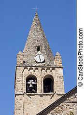 The ancient church bell tower