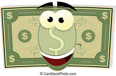 Cartoon US Dollar Character - Illustration of a cartoon...