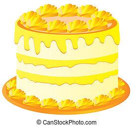 lemon cake - vector lemon cake