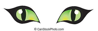 cat eyes - vector cats eyes