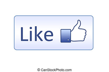 Like button on white background