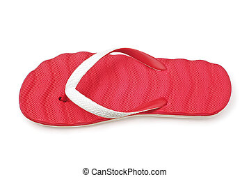 flip flop on white background