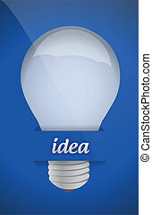 lightbulb idea design over blue background illustration