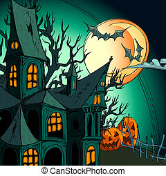 halloween background, this illustration may be useful as...
