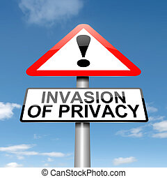 Invasion of privacy warning - Illustration depicting a...