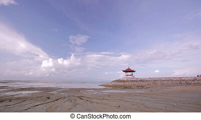 low tide in bali