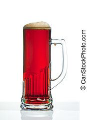 Dark beer glass - Full dark beer glass with handle against...