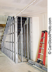 Metal Studs Framing for Staircase in Commercial Retail Space