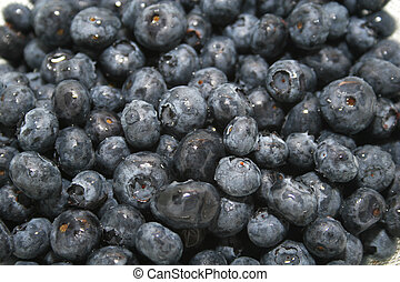 blue berries - A bowl of fresh blueberries, freshly washed...