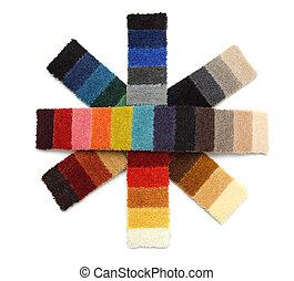 samples of carpet - snowflakes - samples of carpet in the...