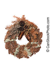 Christmas wreath - Christmas wreath made of spruce cones and...