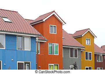colorful houses in Groningen, Netherlands