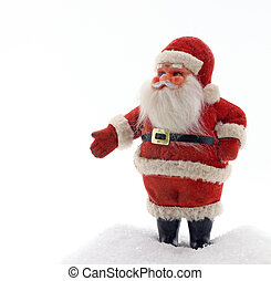 Antique Santa - An antique Santa Claus ornament stand in the...