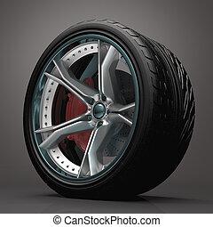 concepto, rueda