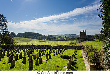 Churchyard and lodges in Chipping Campden - St James Church...
