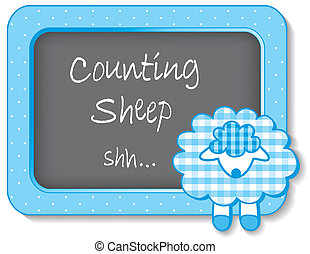 Counting Sheep Nursery Frame - Little lamb nap time nursery...