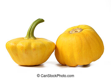 Yellow patty pan squash - Two yellow patty pan squash...