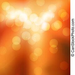 lights blurr - orange blurred shiny round lights and sparks...