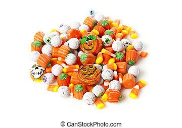 鬼, 橙, 万圣節, 糖果
