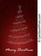Christmass tree - Abstract background with Christmass tree