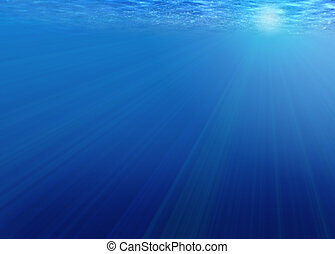 Blue background - Background - bright rays of light under...