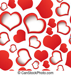 Red hearts seamless