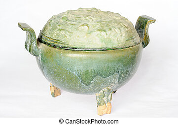 Chinese ancient pottery pot