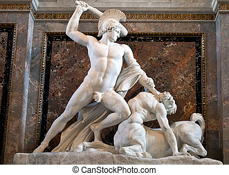 Theseus Fighting the Centaur 1804-1819 by Antonio Canova